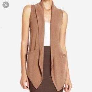 BCBG Max Azria sleeveless brown cardigan